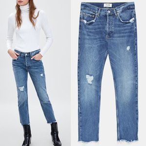 NWT zara mid-rise slouchy jeans size 32US0